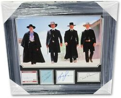 Tombstone Cast Signed Autographed Framed Photo Collage Kilmer Russell Paxton Bas