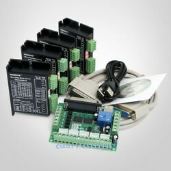 Cnc Kit 4 Axis Breakout Board And Ema2-040d22 Drivers For Diy Router/mill/plasma