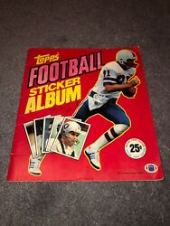 1981 Topps Sticker Album First Edition W 200+ Stickers Inside Steelers Cowboys