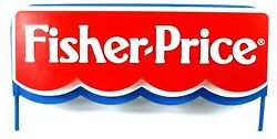 Vintage Fisher Price Store Display Sign From Toys R Us 1980s Metal Plastic Toy