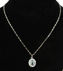 Lot Of 241 Pieces Of Women's 14k White Gold Plated Blue Topaz Pendant