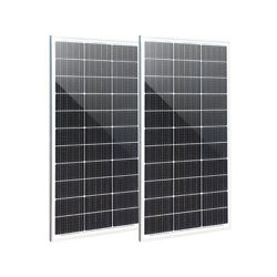 200w 2 X 100w Solar Panel Glass Solar Cell Battery Charger Photovoltaic Home Rv