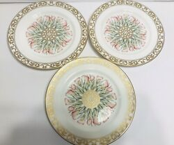 Mikasa Lily Moire Bone China Brunch/breakfast Plates 9 In. Discontinued
