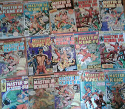 Masters Of Kung Fu Lot 23 Comics Total Vg Condition Hot Item.