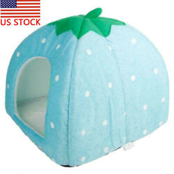 Large Soft Strawberry Pet Dog Cat Bed House Kennel Doggy Warm Cushion Basket Bed