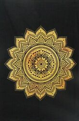 Indian New Omber Mandala Yellow Wall Hanging Throw Bedding Decor Tapestry World