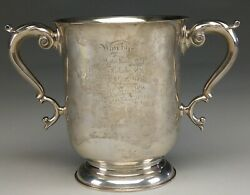 Beautifully Engraved Antique Marcum Club Sterling Silver Presidentandrsquos Cup Trophy