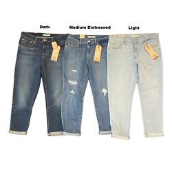 Leviand039s Womenand039s Mid-rise Stretch Boyfriend Tapered Leg Jeans 27 Inseam
