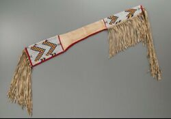 Indian Beaded Rifle Scabbard Sioux Style Suede Leather Native American S516