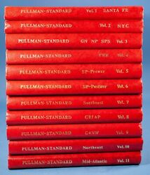 Vtg The Official Pullman-standard Library Volumes 1 - 11 Lot All Signed 1987