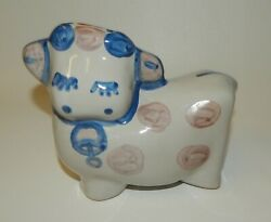 Ma Mary Hadley Art Pottery Figural Cow Coin Bank