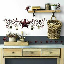 Stars And Berries Wall Decals Country Kitchen Stickers Rustic Folk Primitive Decor