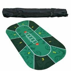 Suede Rubber Texas Hold'em Pokers Table Cover Casino Poker Set Deluxe Board Game
