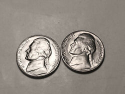 1950 P-d Choice/gem Bu Uncirculated Jefferson Nickels Two Coin Set Group207