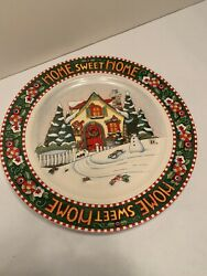 Mary Engelbreit Home Sweet Home Dinner Plates Set Of 2 Unused In Box Year 2000