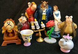 Beauty And The Beast Figure Play Set Disney Pvc Toy Belle Lumiere Cake Toppers