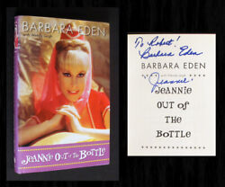 Barbara Eden Signed 1st Ed Jeannie Out Of The Bottle I Dream Of Jeannie Tv