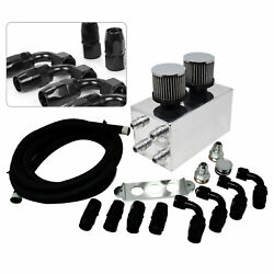 Oil Catch Can W/breather Filter And 3m Oil Pipe Kit For Honda Civic Acura Integra