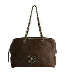 A32455 Large Timeless Grand Brown Quilted Leather Tote Bag