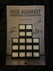 Tim Mcilrath Rise Against Full Band Signed Nowhere Generation Poster