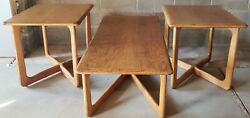 Lane Mid Century Modern Coffee Cocktail And End Tables 1165 01,05 Crossed Legs