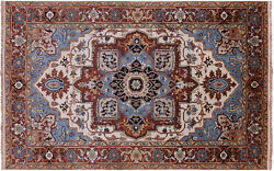 5and039 0 X 8and039 0 Heriz Serapi Hand-knotted Wool Rug - Q11575