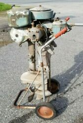 Wwii Johnson Military Outboard Motor Polr 15 Long Shaft 22 Hp, Twin Cylinder