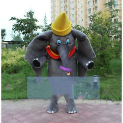Big Elephant Mascot Costume Suits Cosplay Game Dress Outfits Christmas Adults @@