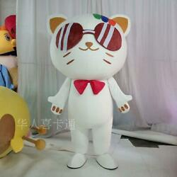 Robot Cat Mascot Costume Suit Cosplay Party Game Dress Outfit Halloween Adult