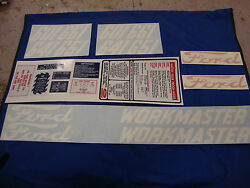 601 Ford Tractor Decal Set 601 641 651 661 Workmaster Gas Models 1958-1964 🎯