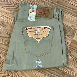 Men's New Levi's 501 Button Fly Jeans 36 X 32 Nos Deadstock New