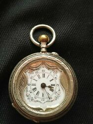 Unique Collectibles Vintage Pocket Watch Sterling Silver 800 Jewelry Men's