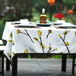 Wedding Christmas Gift Garden Round Tablecloth Flower Tablecloth Cover