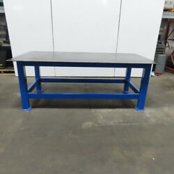 1/2 Thick Top Steel Fabrication Welding Layout Table Work Bench 96lx48wx36h