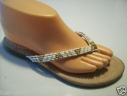 Make Waves In Kenneth Cole Sand Pail Thong Flip Flop Sandals Flats Shoes Size 6