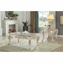 Ergode Coffee Table W/marble Top Marble And Antique White