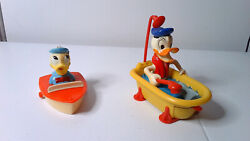 Vintage Disney Donald Duck And Shark In Bathtub Tricky Rider Mechanical Toys