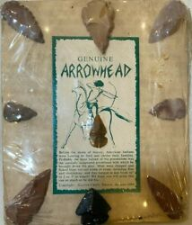 Authentic Native American Arrowheads And Artifacts Collection Lot Of 9