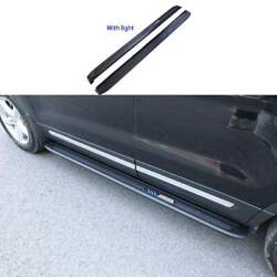 For Ford Explorer 11-19 Black Aluminum Led Running Board Side Pedals Foot Pedal