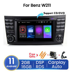 For Mercedes-benz E-w211 7 Android 11 Car Stereo Dvd Player Gps Radio Carplay