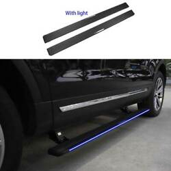 For Ford Explorer 11-19 Black Aluminum Running Board Side Pedals Foot Pedal Led