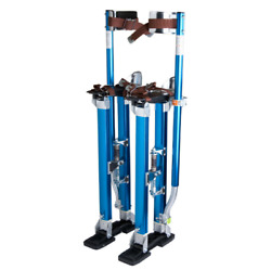 Drywall Stilts 24-40 Aluminum Tool For Painting Painter Taping Blue