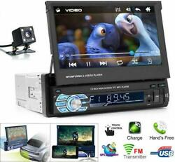 7'' Single 1 Din Car Stereo Fm Radio Bt Touch Screen Aux Car Mp5 Player Camera