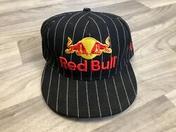 🔥 [formula 1] F1 Red Bull Racing Athelete Only Pinstripe Fitted 7 1/4 Hat Cap