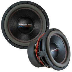 2 American Bass Hd12d1a-v2 12 4000w Rms Dual Vc 1-ohm Car Audio Subwoofers