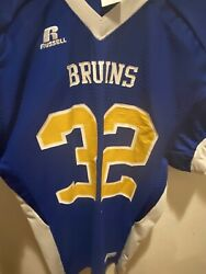 Vintage Russell Ucla Bruins Football Jersey Size Large Blue And Gold Game Ncaa