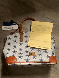 Dooney and Bourke Charli Satchel NFL Dallas Cowboys NT86CW GY New With Tags $155.00
