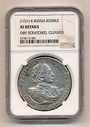 Russia Coin 1 Rouble 1721 Ngc Xf Extremely Fine