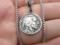Necklace Pendant Authentic Buffalo Indian Nickel Coin 1920 1924 1936 1937 1938