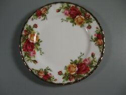 Royal Albert Old Country Roses Bread And Butter Dish/plate 6-1/8 Gold Trim